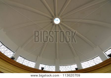 Ablution dome of the Sultan Ismail Mosque in Muar, Johor, Malaysia