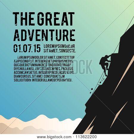 Climbing vector poster