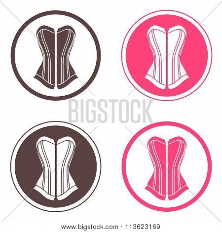 Four Round Logo With Corsets
