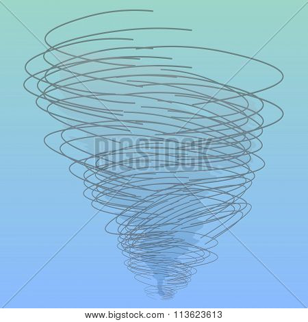 Tornado Or Twister In Vector