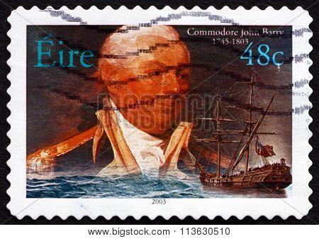 Postage Stamp Ireland 2003 American Commodore John Barry