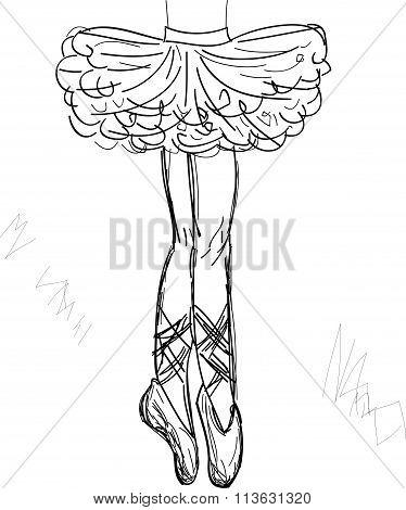 Beautiful  ballerina vector