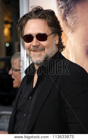 Russell Crowe at the Los Angeles premiere of
