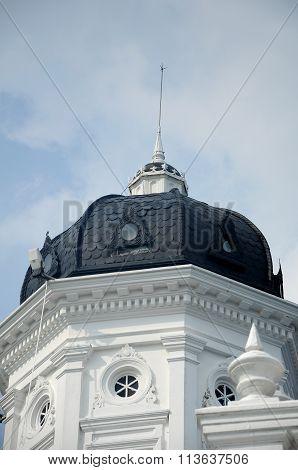 Dome of Sultan Abu Bakar State Mosque in Johor Bharu, Malaysia
