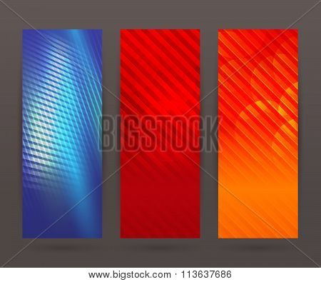Set Vertical Banner Background Template Layout Flyer48