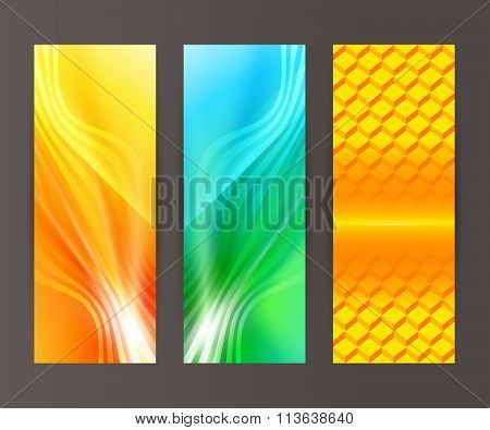 Set Vertical Banner Background Template Layout Flyer56