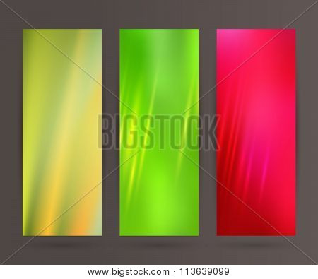 Set Vertical Banner Background Template Layout Flyer60