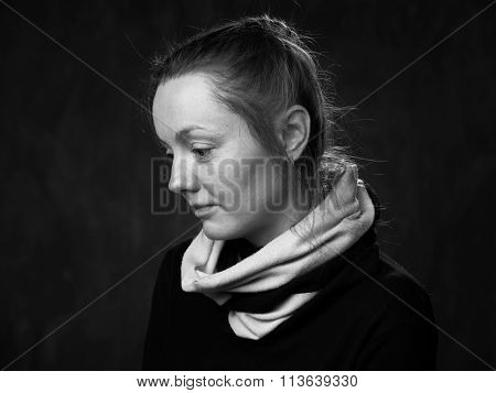 Young  Bemused Disoriented Woman