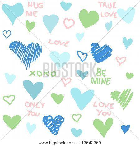 Valentine's Day hearts background