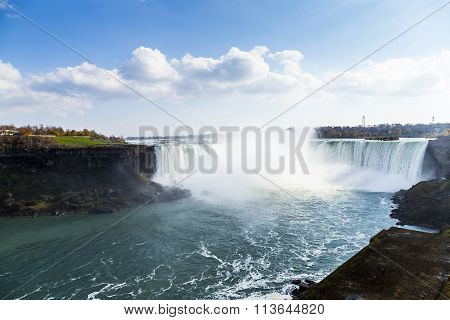 scenic view of niagara falls in ontario canada