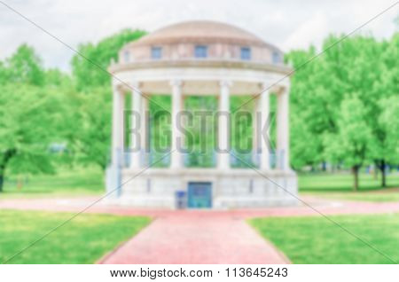 Defocused Background Of Bandstand At The Boston Common Park