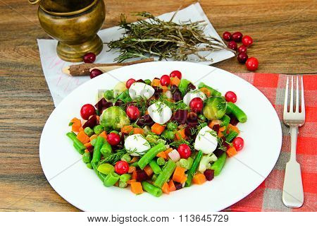 Mexican Mix of Vegetables. Tomatoes, Beans, Celery Root, Green Beans, Peas and Corn. Dietary Food  Studio Photo poster