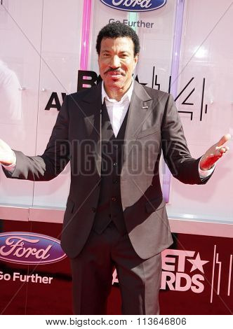 Lionel Richie at the 2014 BET Awards held at the Nokia Theatre L.A. Live in Los Angeles, USA on June 29, 2014.