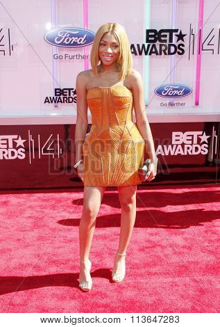 Lil Mama at the 2014 BET Awards held at the Nokia Theatre L.A. Live in Los Angeles, USA on June 29, 2014.