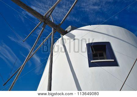 Antique windmill side window