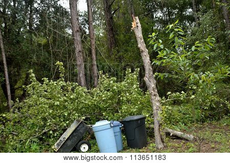 Ef0 Tornado Damage In North Florida
