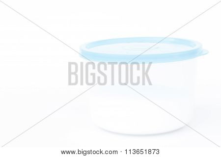 Plastic Food Containers Isolated On White Background