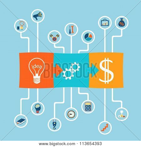 Business Success. Stock Illustration.