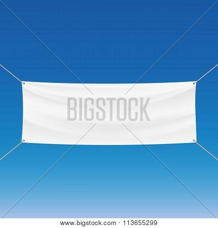 White Banner. Stock Illustration.