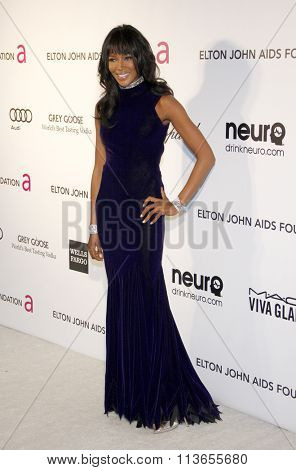 Naomi Campbell at the 21st Annual Elton John AIDS Foundation Academy Awards Viewing Party held at the West Hollywood Park in Los Angeles, USA on February 24, 2013.