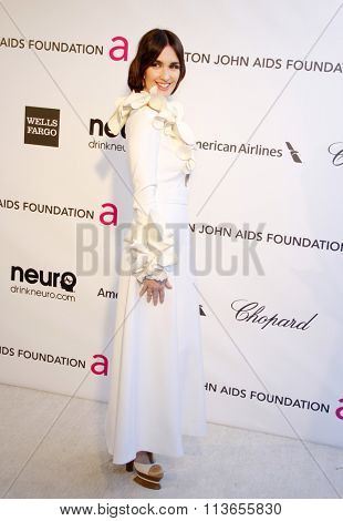 Paz Vega at the 21st Annual Elton John AIDS Foundation Academy Awards Viewing Party held at the West Hollywood Park in Los Angeles, USA on February 24, 2013.