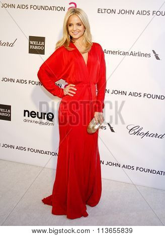 Mena Suvari at the 21st Annual Elton John AIDS Foundation Academy Awards Viewing Party held at the West Hollywood Park in Los Angeles, USA on February 24, 2013.