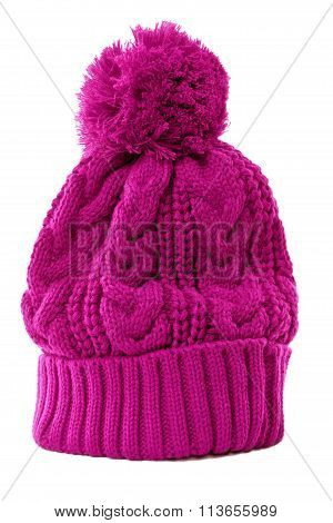 Pink Bobble Hat