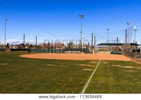 Baseball Field In California Mountains