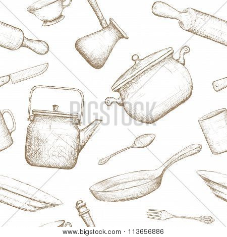 Kitchenware. Stock Illustration.