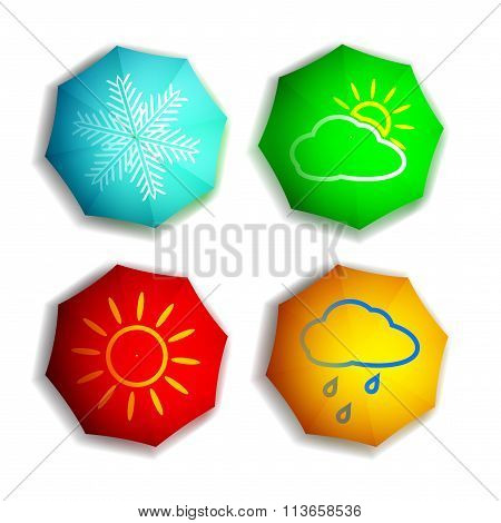 Seasons. Stock Illustration.