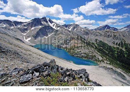 Beautiful Viola Lake in BC, Canada.