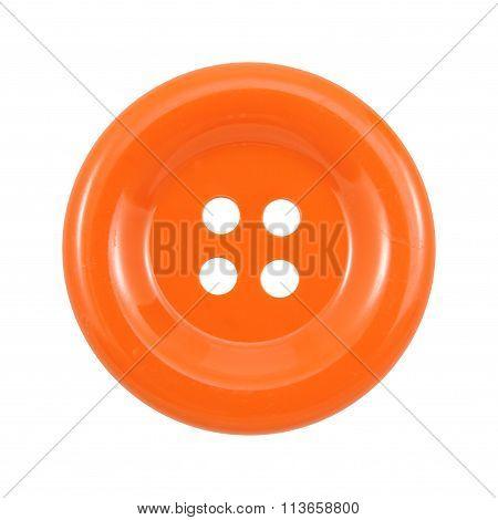 Orange clasper isolated on white background .