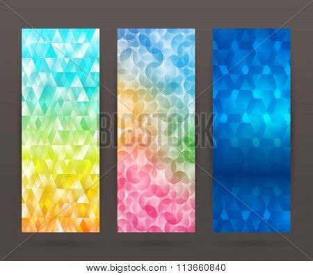 Set Vertical Banner Background Template Layout Flyer70