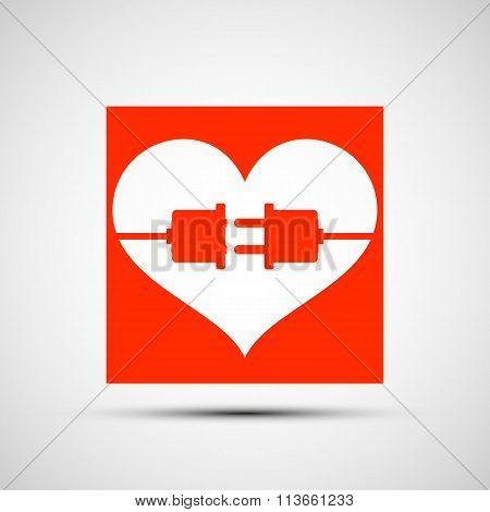 Red Heart. Stock Illustration.