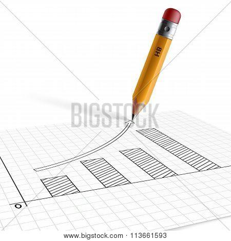 Financial Charts. Stock Illustration.