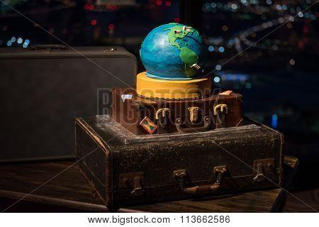 World Traveler Wedding Cake