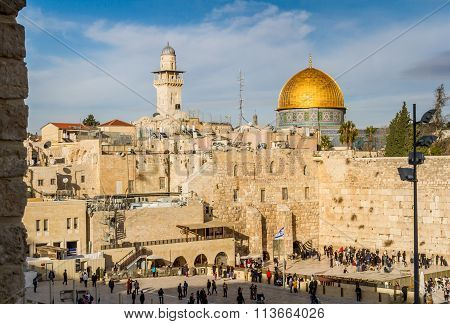 Western Wall And Dome Of The Rock, Jerusalem