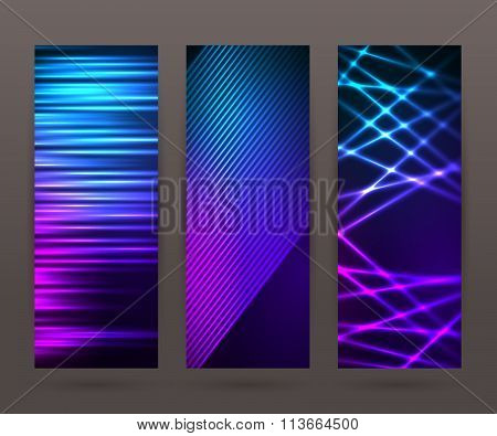 Set Vertical Banner Background Template Layout Flyer75