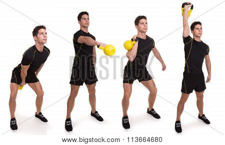 Kettlebell, Swinging Clean and Press, Exercise