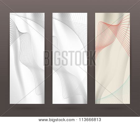 Set Vertical Banner Background Template Layout Flyer83
