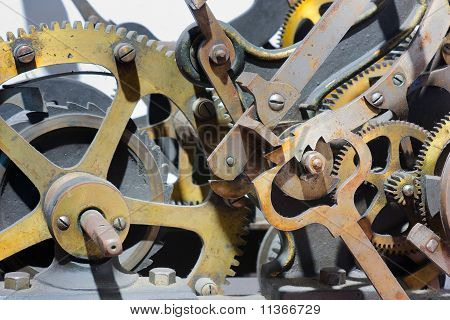 Old Clock Tower Mechanism