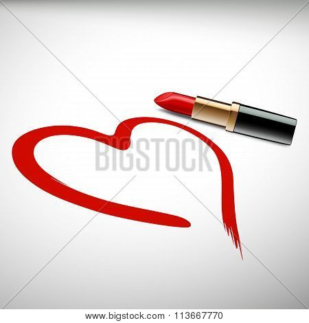 Lipstick. Stock Illustration.