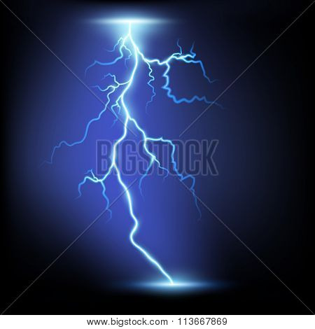 Lightning. Stock Illustration.