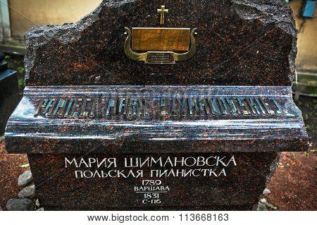 Sculptural Monument On The Grave Of  Maria Szymanowska