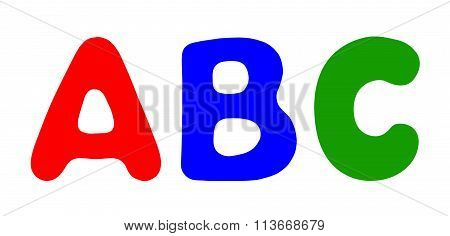 Illustration Of The Letters Abc Isplated On White Background