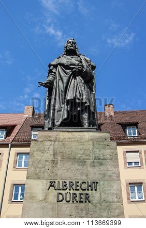 Albrecht Duerer Monument In Nuremberg, Germany, 2015