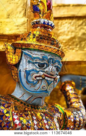 Sculpture Of Rakshasa In Thailand