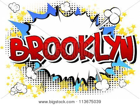 Brooklyn - Comic Book Style Word.