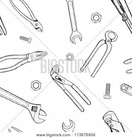 Industrial Tools. Stock Illustration.