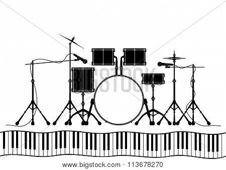 Drum Set In Vector